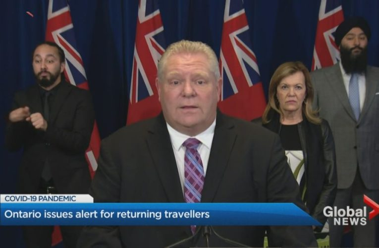 Ontario government to discuss ban on gatherings of more than 5 people, Doug Ford says