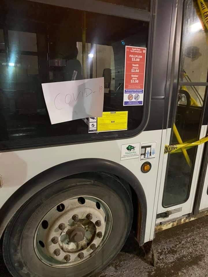 Winnipeg Transit takes buses out of service after driver has flu-like symptoms