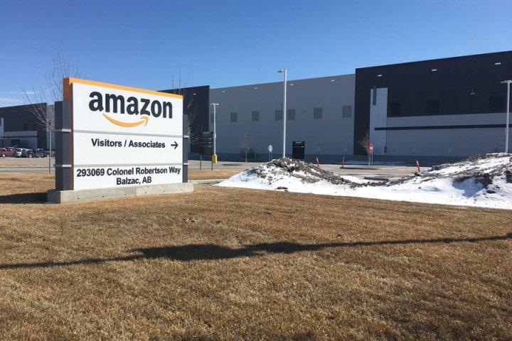 Employee at Balzac, Alberta Amazon warehouse tests positive for COVID-19