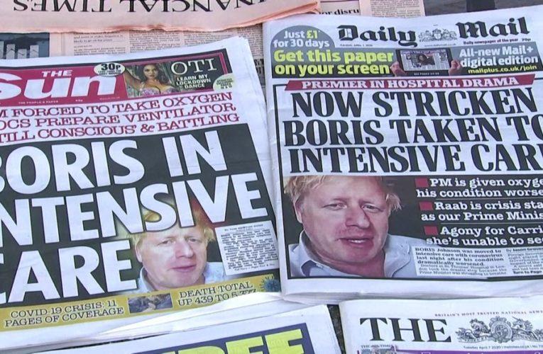 Britain's Boris Johnson remains in ICU as country grapples with coronavirus