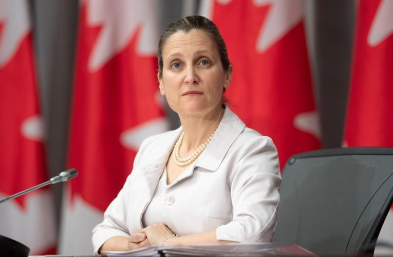 Coronavirus: Freeland won't say if U.S. wants border deal extended beyond June