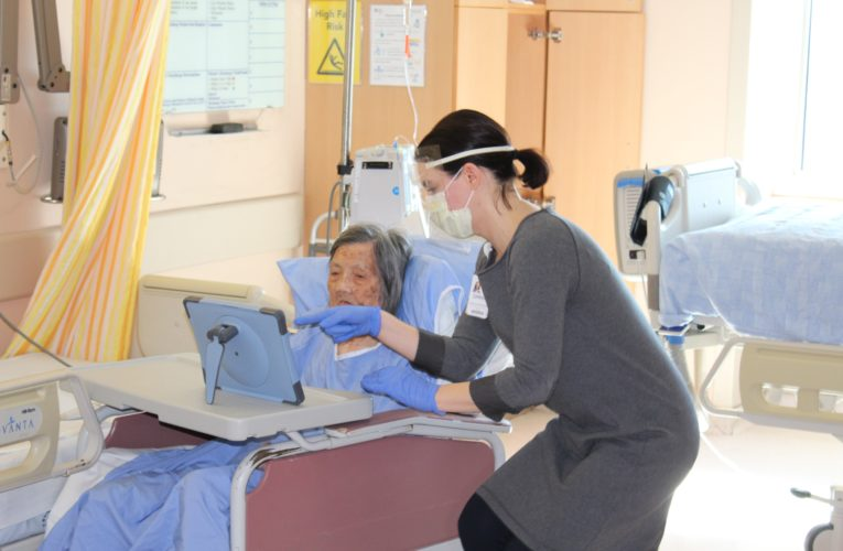 Coronavirus:Virtual Family visits an important lifeline for hospital patients
