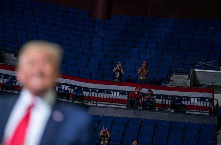 Trump's low rally turnout shows U.S. still cautious over coronavirus risk: experts