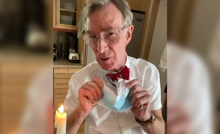 Bill Nye the Science Guy returns for 'wear a mask!' PSA on coronavirus