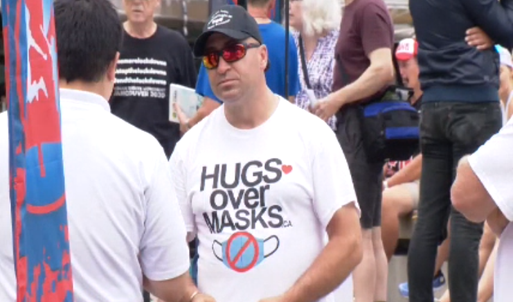 Vancouver protesters rally against masks, though experts say they slow spread of COVID-19