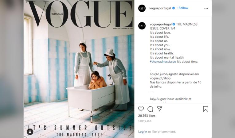 Vogue Portugal receiving backlash for cover depicting model in a mental health hospital