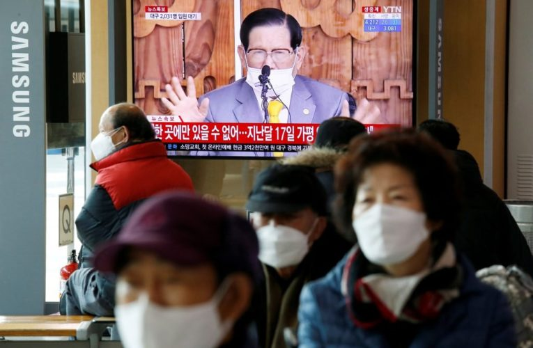 South Korea arrests head of religious sect linked to 36% of country's coronavirus cases