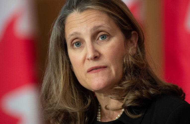 Canada will keep up heavy but 'limited' coronavirus spending: Freeland