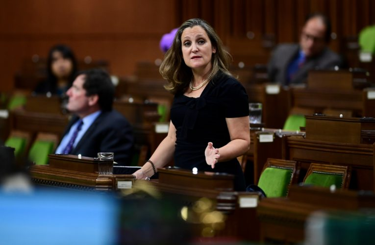 Chrystia Freeland tests negative for COVID-19 after receiving exposure notification