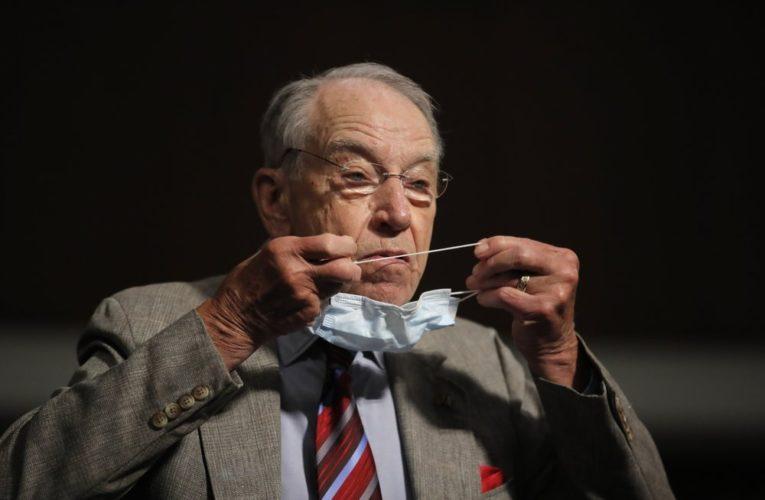 U.S. Senator Chuck Grassley latest Republican to test positive for coronavirus
