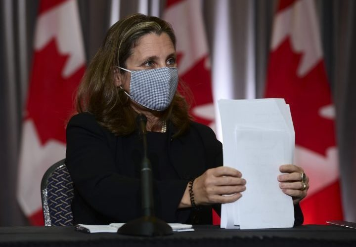 Fiscal guardrails will be 'anchored' by the time recovery plan rolls out: Freeland