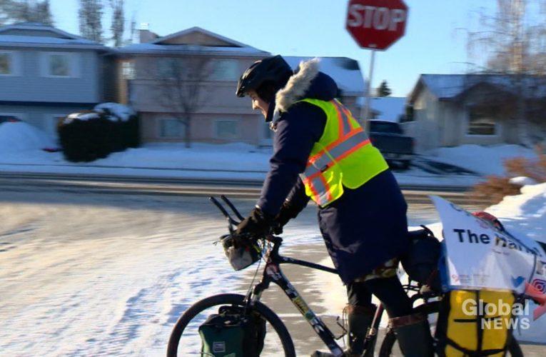 Saskatoon man cycles 1,670 km to raise awareness for Canadian overdose crisis