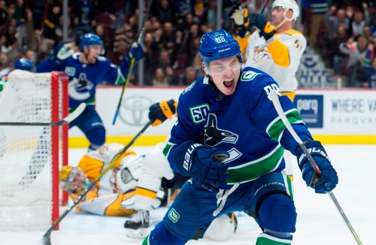 Vancouver Canucks' Adam Gaudette enters COVID-19 protocol after testing positive for coronavirus