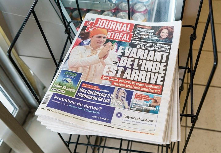 COVID-19: Montreal newspaper blasted for front page photo of Trudeau in India