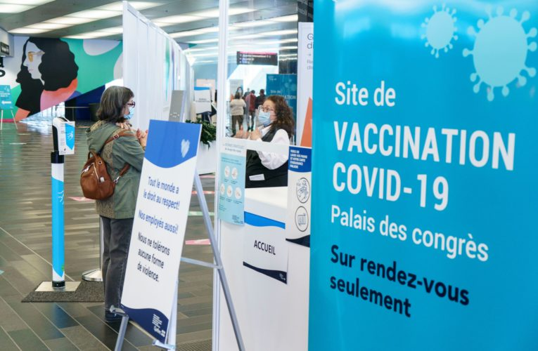 Quebec sets vaccination record as province again adds more than 1,500 new COVID-19 cases