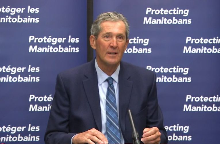 Premier announces doubling of enforcement fines, 5-day sick leave benefit for Manitoba