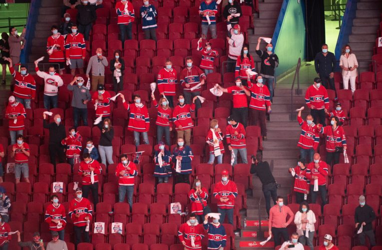 Quebec should wait before allowing more Montreal Canadiens fans in arena, experts say