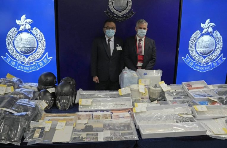 9 arrested for allegedly plotting to plant homemade bombs around Hong Kong