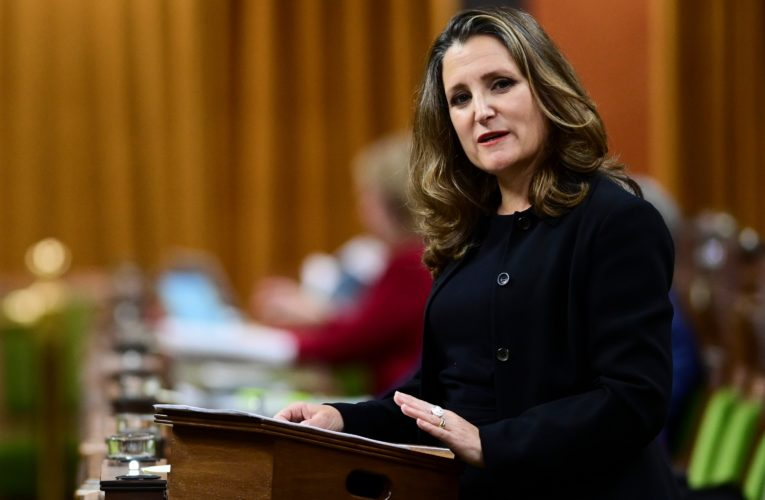 Canada has 'a practical and a moral duty' to fight COVID-19 around the world: Freeland