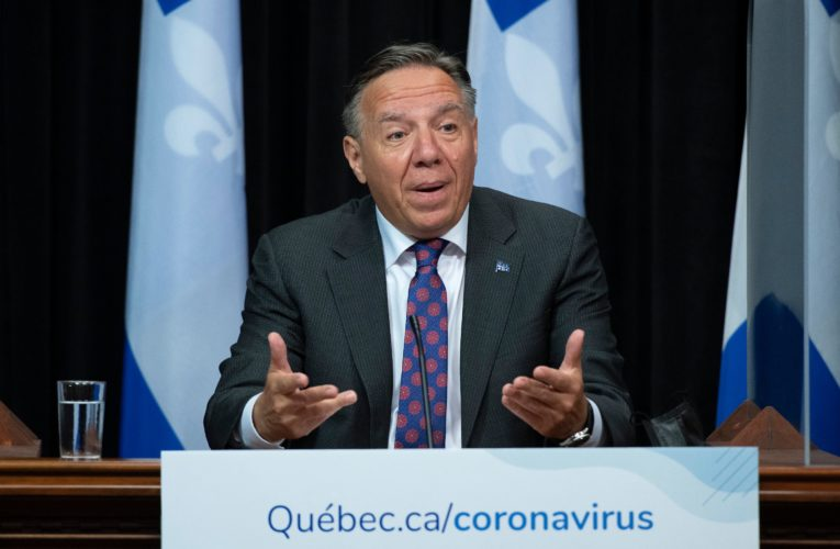 Quebec premier gives update on COVID-19 pandemic
