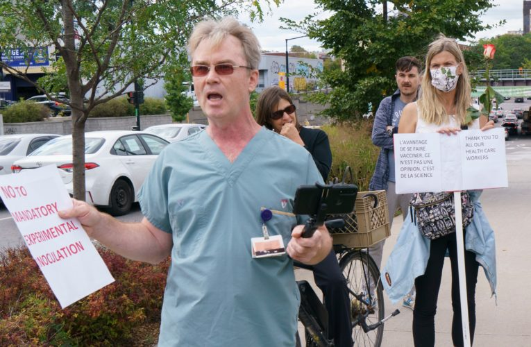 Quebec won't rule out law to ban anti-vaccine protests outside schools, hospitals