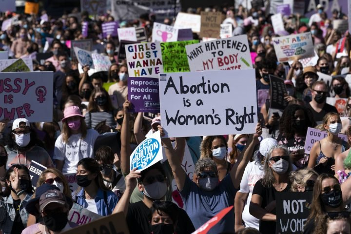 'Mind your own uterus': U.S. women march for abortion rights